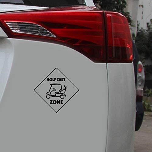 Aufkleber Auto Heckscheibe 15.6Cmx15.6Cm Golf Cart Crossing Sign-Zone Auto-Dekoration-Abziehbild Mode Auto-Aufkleber Zubehör für Fensteraufkleber Auto Laptop -