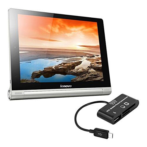 kwmobile 3in1 Micro USB OTG Kabel Adapter für Lenovo Yoga Tablet 10/HD+ - Card Reader Tablet Kartenleser Anschluss für USB 2.0/SD Karte/Micro SD Karte in - Für Sd-card G2 Reader Lg
