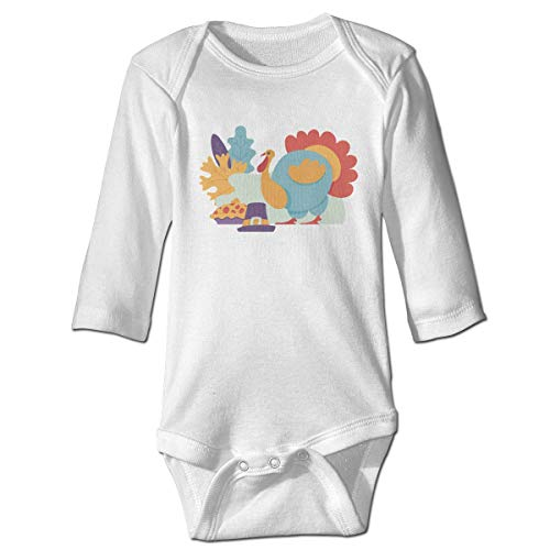 s Baby Jungen Mädchen Babybody Langarm, Baby Boys Girls Bodysuit Turkey Bird Flat Isolated Jumpsuit Onesies Long Sleeve Unisex ()
