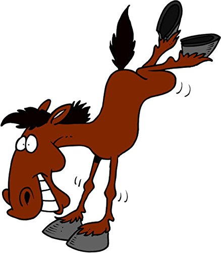 T-Shirt E1297 Schönes T-Shirt mit farbigem Brustaufdruck - Logo / Grafik / Design - lustiges wildes Pferd springt herum Mehrfarbig