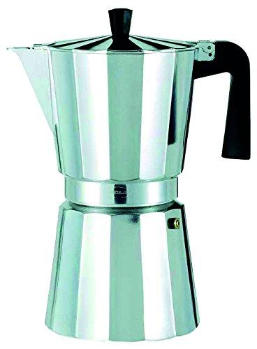 Oroley - Cafetera Italiana New Vitro de Aluminio, 9 Tazas