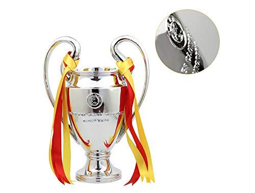 Trofeo di Calcio, Coppa delle Cupole di SaintBride Calcio Coppa di Real Madrid Coppa delle Big Ears - Trofeo di Parola Sport incisa Trofeo di Parola incisa - Argento,XXL