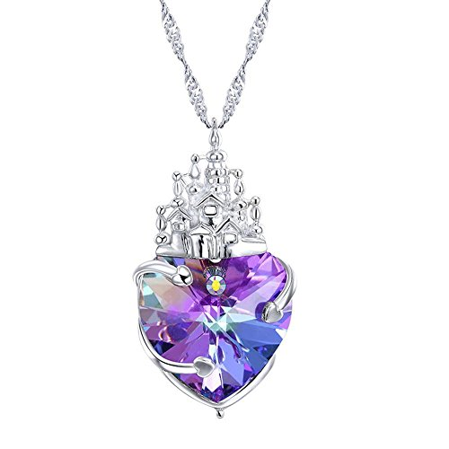 Haixin Dame de Château amour 925 argent sterling collier adopte Schwarlo Susan Crystal Pendant