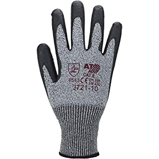 Asatex 3721 10 Step 5 Cut Protection Gloves with PU Coating, Grey, 10