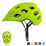 Exclusky Casco Bici Montagna Caschi Ciclismo per Mountain Bike Unisex Taglia 56-61cm (Giallo Fluorescente)