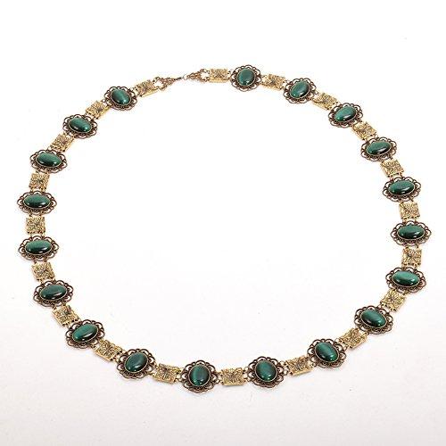 GRACEART Tudors Dynastie Tudor Herr Deluxe Halskette Kette von Büro Livree Halsband (Grüne Cabochons)