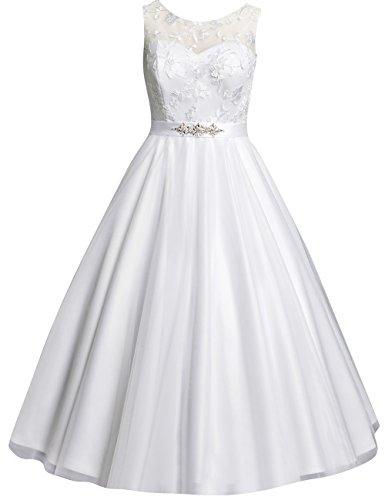 Kurze Brautkleider Vintage 60er Spitze A-Linie Rückenfreie Hochzeitskleider Standesamt Kleider...