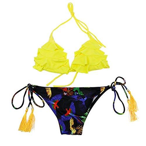 SSITG Frauen Bademode Bikini Push-Up trägerlos Triangel Bandeau badeanzug Swimwear #25