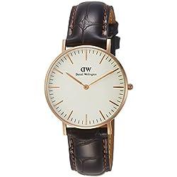 Daniel Wellington Women's Quartz Watch Classic York Lady 0510DW with Leather Strap
