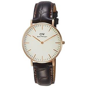 Daniel Wellington 510DW Classic York – Reloj con correa de piel para mujer, color Rosa
