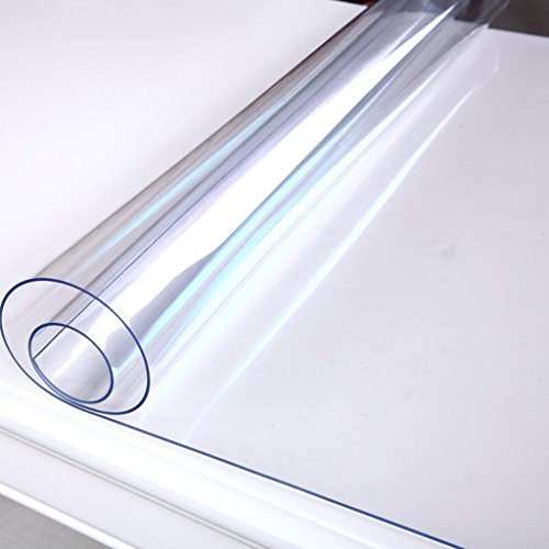 Pengye 1.5mm Dicker Kristall Freier PVC-Tabellen-Abdeckungs-Schutz-Schreibtisch-Auflage-Matten imprägniern ölbeständige Tischdecke (Größe : 90x120cm(35x47inch)) (Gobelin-bank)
