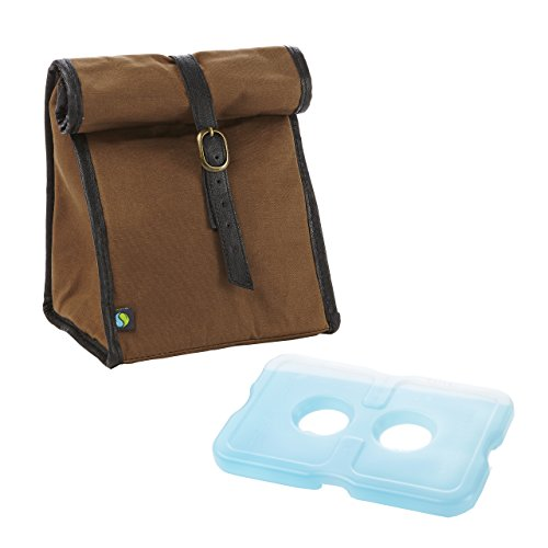 fit-fresh-mens-classic-roll-top-insulated-lunch-bag-with-ice-pack-dark-brown-by-fit-fresh
