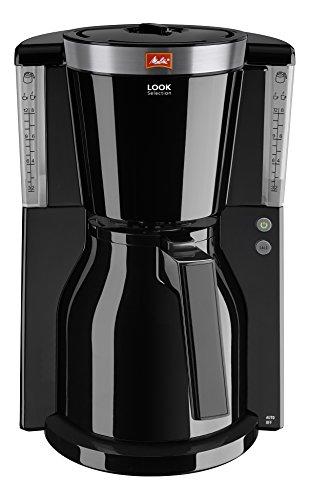 Melitta Look Therm Selection 1011-12, Filterkaffeemaschine mit Thermkanne, AromaSelector, Schwarz