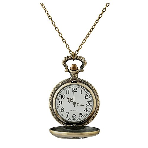 packet-watch-fob-watches-necklace-watches-for-women-vintage-bronze-fancy-zodiac-dragon-pendant-long-