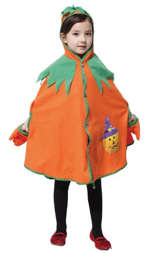 way Star with original set! Halloween Pumpkin brooch shining super! Halloween pumpkin costume cloak [BWS-036] L size (japan import) (Broadway-halloween-kostüme)