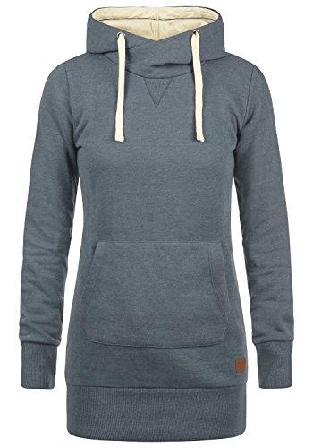 BLEND SHE Jenny Damen Kapuzenpullover Hoodie Sweatshirt mit Fleece-Innenseite aus hochwertiger Baumwollmischung, Größe:XXL, Farbe:Ensign blue (70260) (Fleece-kleid)
