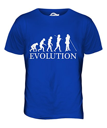 CandyMix Landvermesser Vermessung Evolution Des Menschen Herren T Shirt Königsblau