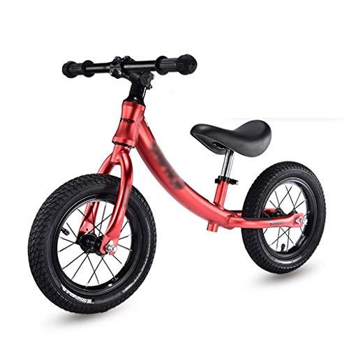 Klappräder Kinder Laufrad Gehhilfe Aufblasbares Gummirad Ohne Fuß Aluminiumrahmen Leichtgewicht (Color : Red, Size : 85cm)