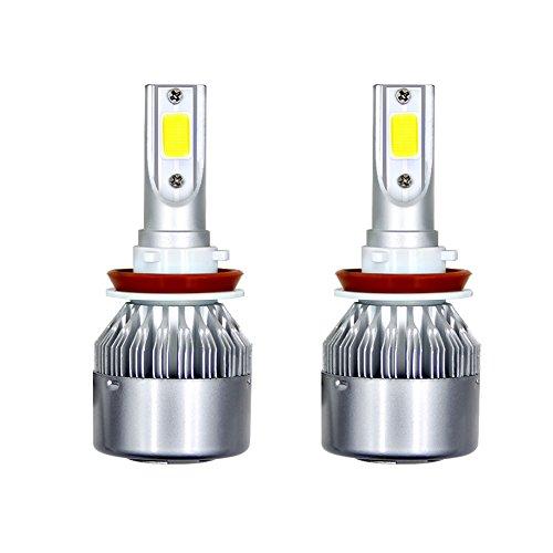 Qiyun Lichter Auto, Lampen Auto, Gegenstände für Auto, 1Paar H11C6Kit Faro A LED 3800lm/Glühbirne 6000K Leuchtmittel Nebelscheinwerfer geringem Kabelbaum HID Weiß
