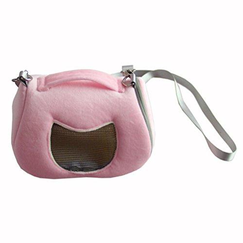 UEETEK Borsa trasportino per criceto e animali domestici piccoli in Rosa