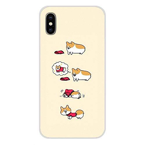 Super Netter Corgi Sexy Cartoon-Hund Ass-Schwarz-Fall-Abdeckung für iPhone X Xr Xs Max 4 4S 5 5S 5C Se 6 6S 7 8 Plus, für iPhone XS Max, Bilder 9