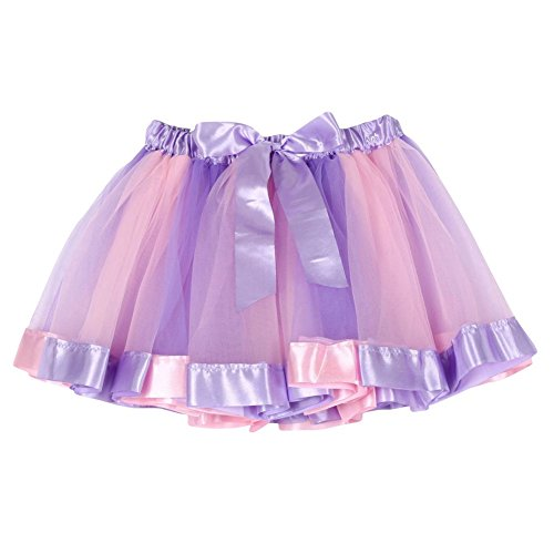 BOBORA Ragazzino ragazze Tutu Gonna Tulle Dancewear balletto vestito arcobaleno gonna