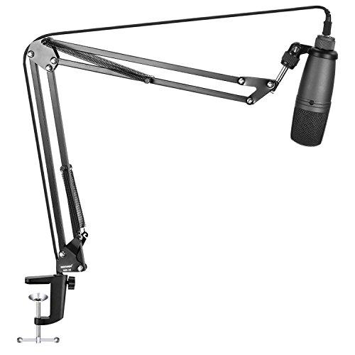 Anhänger-montage-kit (Neewer USB Kondensatormikrofon und NW-35 Pro Tisch Mikrofonständer Kit:NW-3U Nieren-Nylon-Mikrofon und Pro NW-35 Mikrofon Aufhängung Ausleger Schere Armständer mit Tisch-Montage-Klemme)
