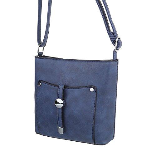Taschen Umhängetasche Used Optik Modell Nr.1 Blau