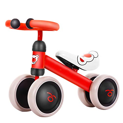 HAHABABY My Bike Junior Correpasillos First Bike Bicicleta sin Pedales con Sillín Regulable Infantil Bicicleta de Equilibrio,Red