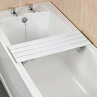 Homecraft Savanah Slatted Bath Board, 762 mm (30 in), Bench for Elderly, Disabled, & Handicapped, Comfortable Bath Bench, Adjustable Fit Transfer Seat for Shower or Bathtub, Bathroom Safety Handle