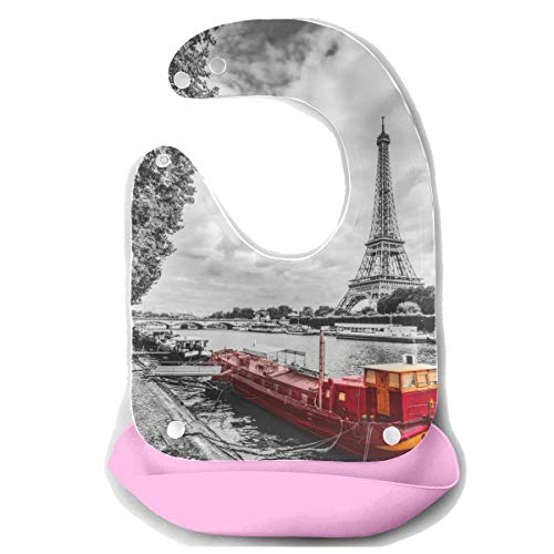 Babero niña Torre Eiffel río Sena París Francia