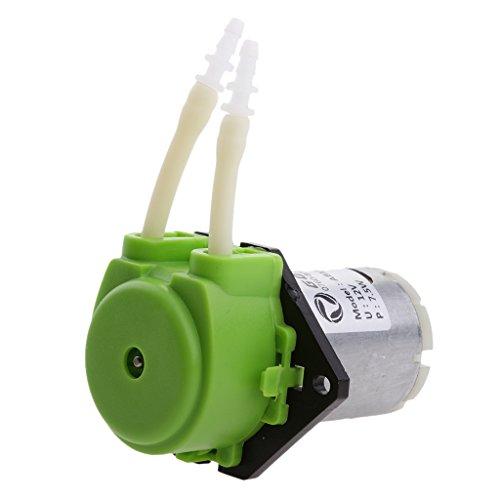 Sharplace DC 12V Kleine Pumpe Dosierung Schlauchpumpe mit Dosierkopf für Aquarium, Flüssigkeiten - Grün