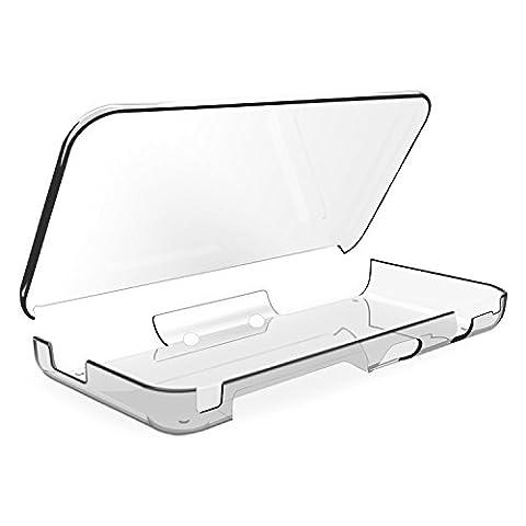 IVSO New Nintendo 2DS XL Hülle, Ultra Schlank Ständer Slim Leder zubehör Schutzhülle perfekt geeignet für New Nintendo 2DS XL Tablet PC, Schwarz