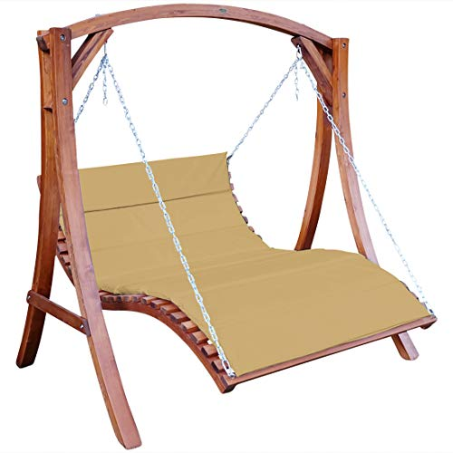ASS Design Hollywoodliege Hollywoodschaukel Aruba-OD aus Holz Lärche ohne Dach von
