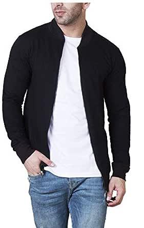Veirdo Cotton Jacket for Men(Small, ABLACK)