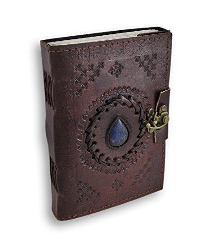 Shakun Leather Klassisches Vintage Retro Tagebuch, Reise- und Leder Notizbuch, 7 x 5 Zoll, NEU