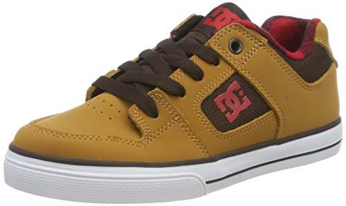 DC Shoes Jungen Pure Se - Shoes for Boys Skateboardschuhe, Wheat, 38 EU