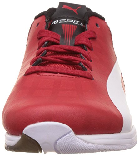 Puma Evospeed Lo Sf, Baskets Basses Garçon Rouge (Rosso Corsa/White/Black)
