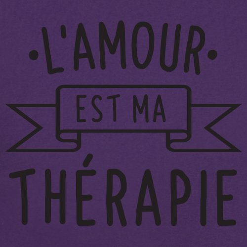 L'amour est ma thérapie - Femme T-Shirt - 14 couleur Violet