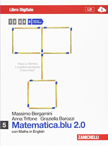 Matematica.blu 2.0. Libro digitale 5 con Maths in english