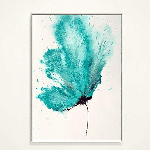 QYYDYH Sala de Estar Pintada a Mano Pintura Decorativa Simple, pequeña, Fresca,...