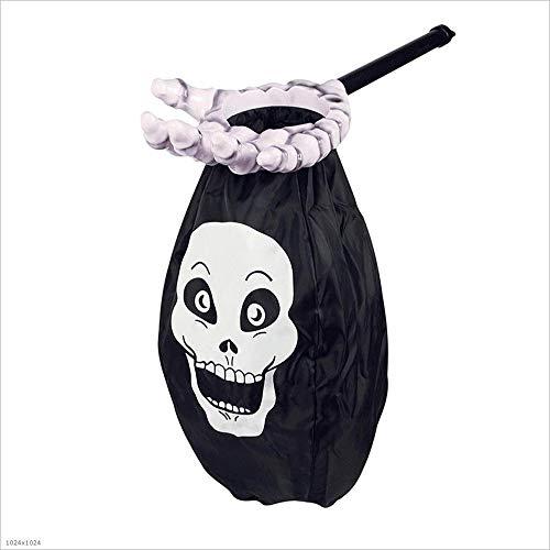 MODYL Halloween-Schmuck Heftiger Ausdruck Persönlichkeits Anhänger Mit Zirkon Hip Hop Halskette