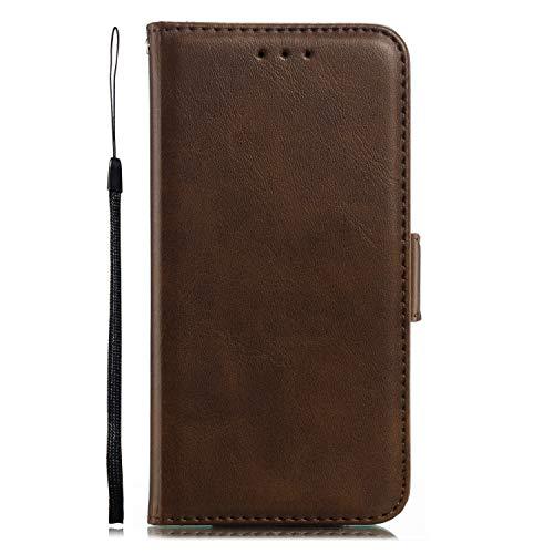 Miagon für iPhone XS/X Lederhülle,Luxuriöse Stilvoll Lanyard Premium Pu Leder Kartenfach Magnetverschluss Flip Brieftasche Etui Schutzhülle mit Standfunktion