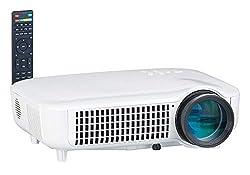 SceneLights Heimkino Beamer: Full HD LED-LCD-Beamer mit Media-Player, 1920 x 1080, 3.000 lm (LED LCD Projektor)