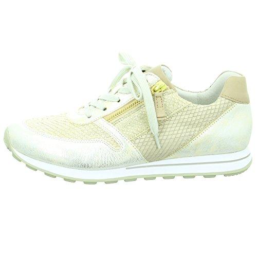Gabor-2 La  66.368.23, Chaussures de ville à lacets pour femme Beige