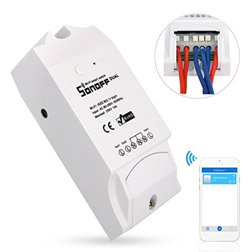 Sonoff Dual Smart Hogar 2 Vías Wifi Smart Switch, Interruptor Temporizador de...