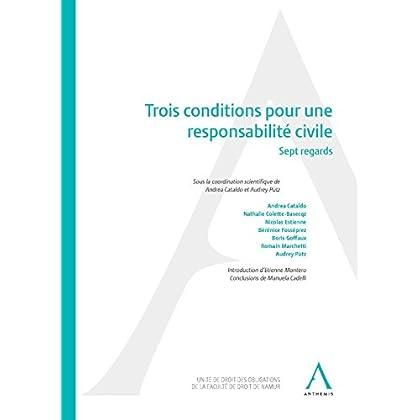 Trois conditions pour une responsabilité civile: Sept regards (Hors collection)