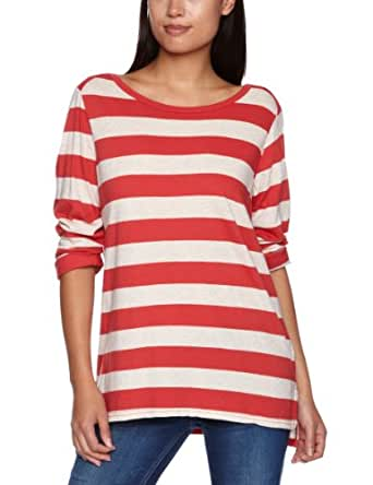 Levi's Boatneck Rolled Sleeve Women's Jumper Coral Red Small