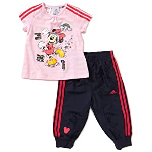adidas Kinder Hose und Shirt I DYQ SET Girls