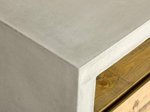 massivum Lowboard Gladstone 120x45x40 cm Pinie braun lackiert - 3